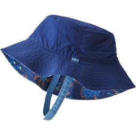 Patagonia Sun Bucket Hat Niños, mola mola/superior blue
